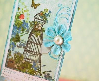 birthday card close-up