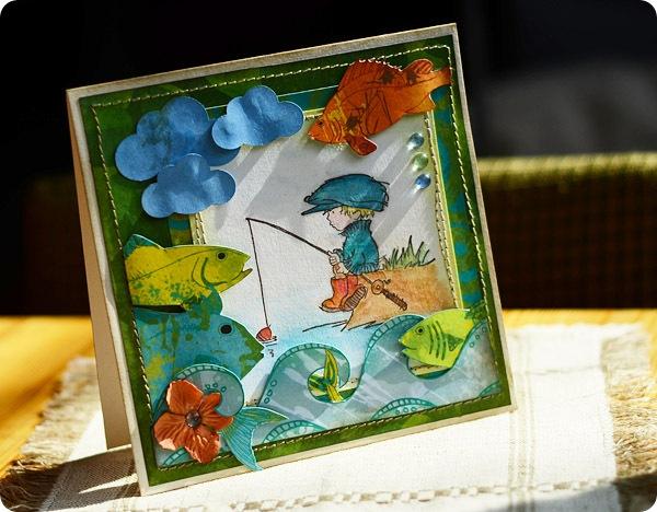 kartka z rybami