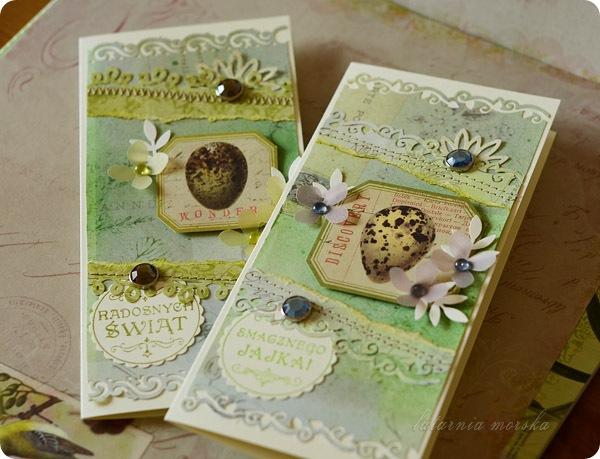 ręcznie robione kartki wielkanocne