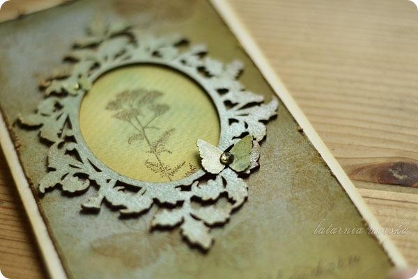 kartka z ramka botaniczna detale lm
