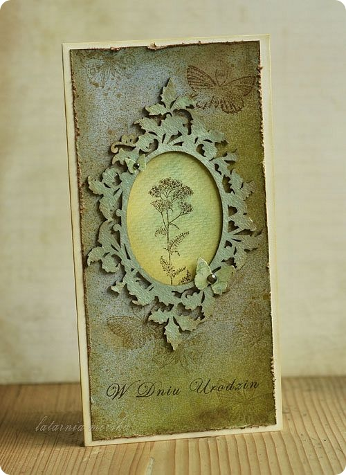 kartka z ramka botaniczna lm