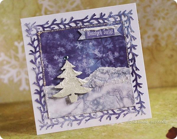 zimowa kartka świąteczna