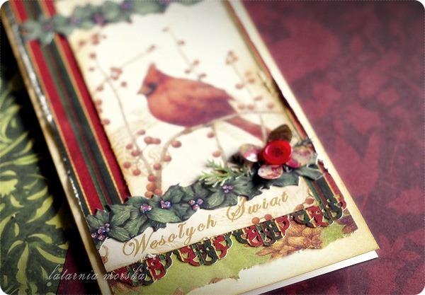 kartki świąteczne vintage z ptaszkami 2