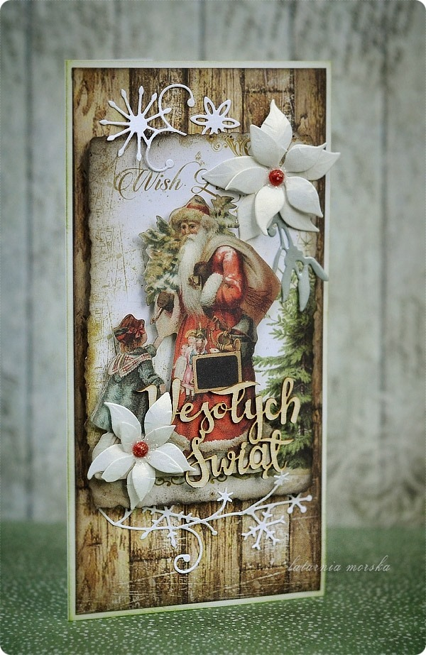 kartka_recznie_robiona_Boze_Narodzenie_2018_vintage_Christmas_1